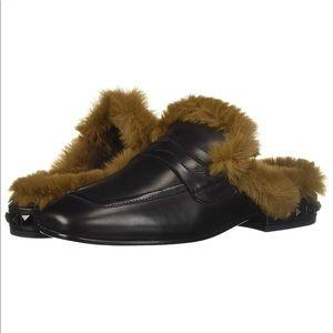 Ash Faux Fur Mule Slide EUC